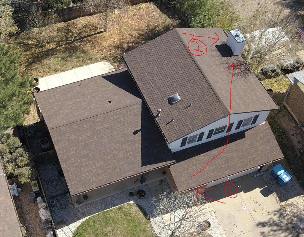 Proposed placement of ADS-B antenna on chimney