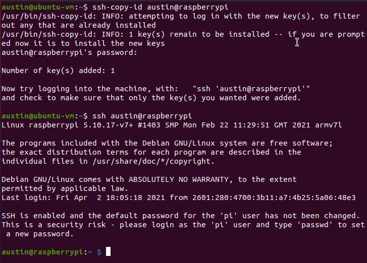 linux ssh-copy-id command