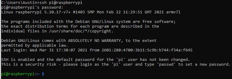 Raspberry Pi Log In Prompt